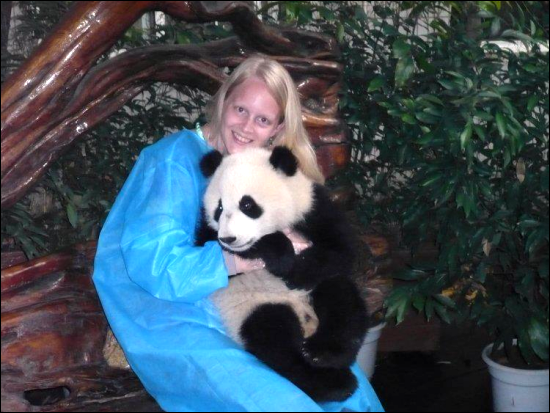 Samantha Spijkers Coaching In China Met Panda